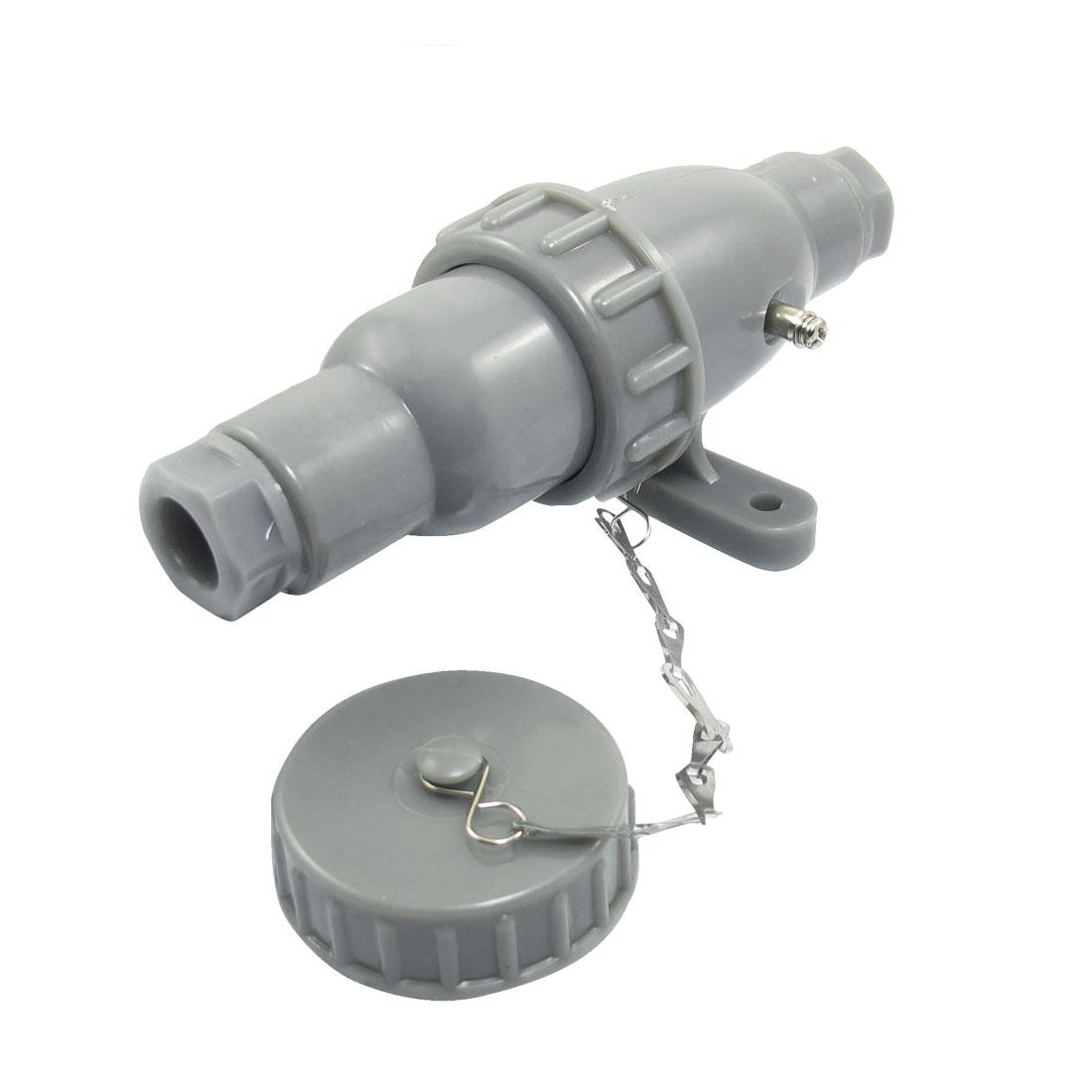 500VAC 10A 3P+E Gray Waterproof Marine Plug Socket Set Junction CTF3-2/CZF3-2