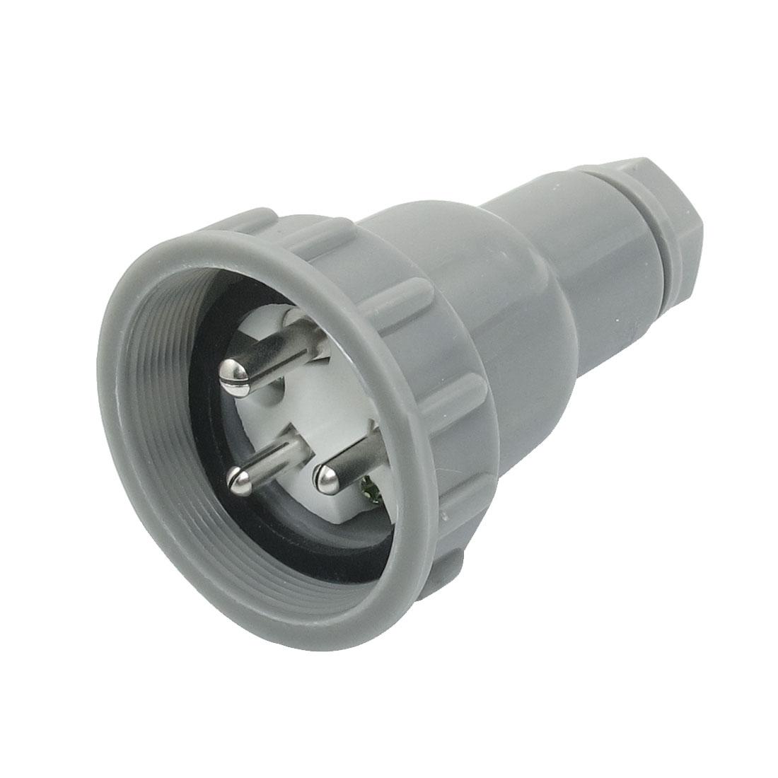 CTF3-1 Outdoor Water Resistant Marine Plug Gray 3P 500VAC 10A