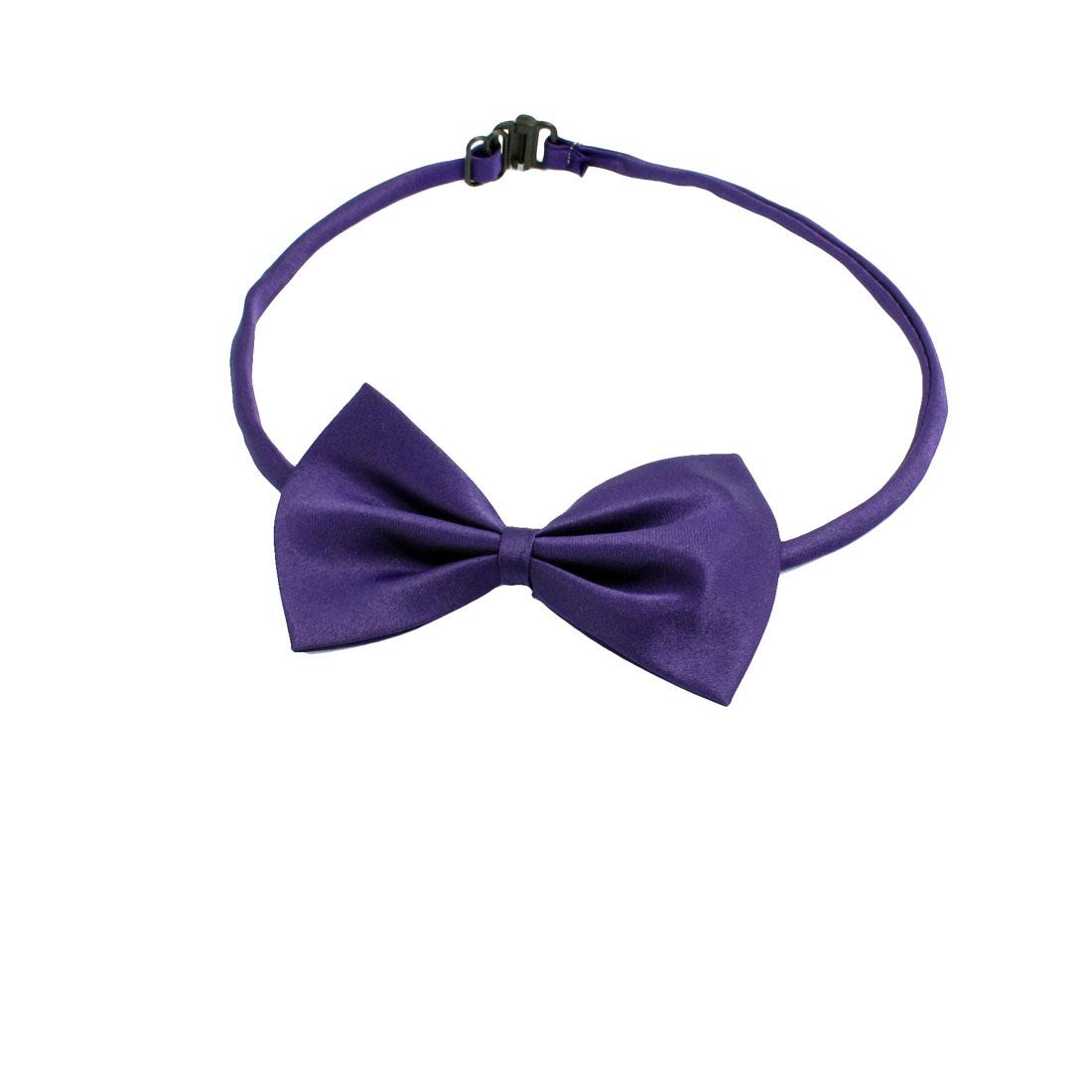 2 Pcs Adjustable Dog Doggie Puppy Collar Bowtie Bow Ties Purple