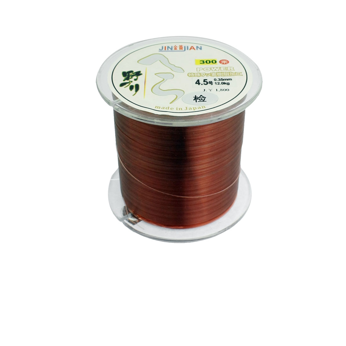 0.35mm Diameter 12Kg Brown Nylon Freshwater Fishing Spool Line 300m