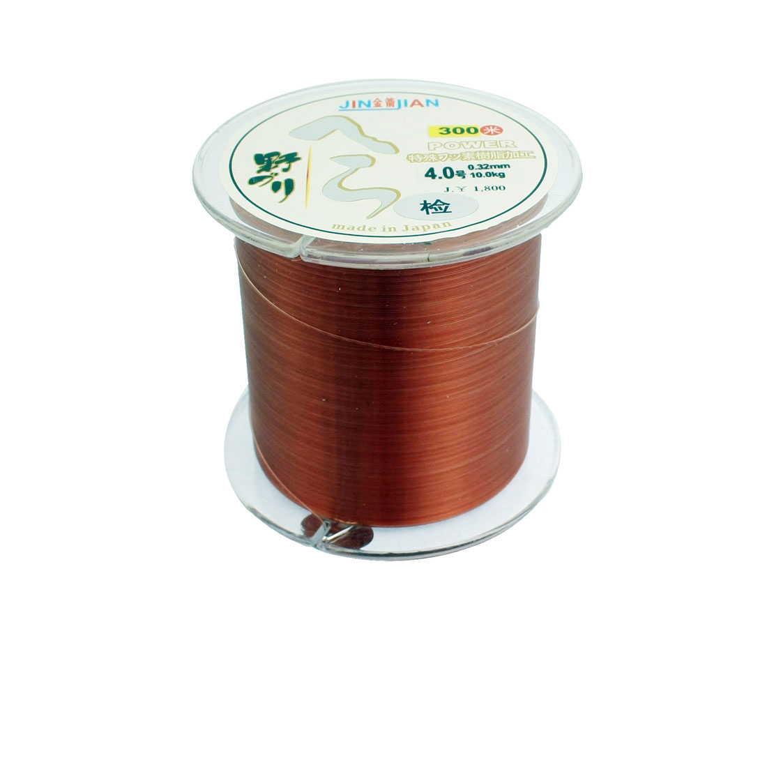 0.32mm Diameter 10Kg Brown Nylon Freshwater Fishing Spool Line 300m