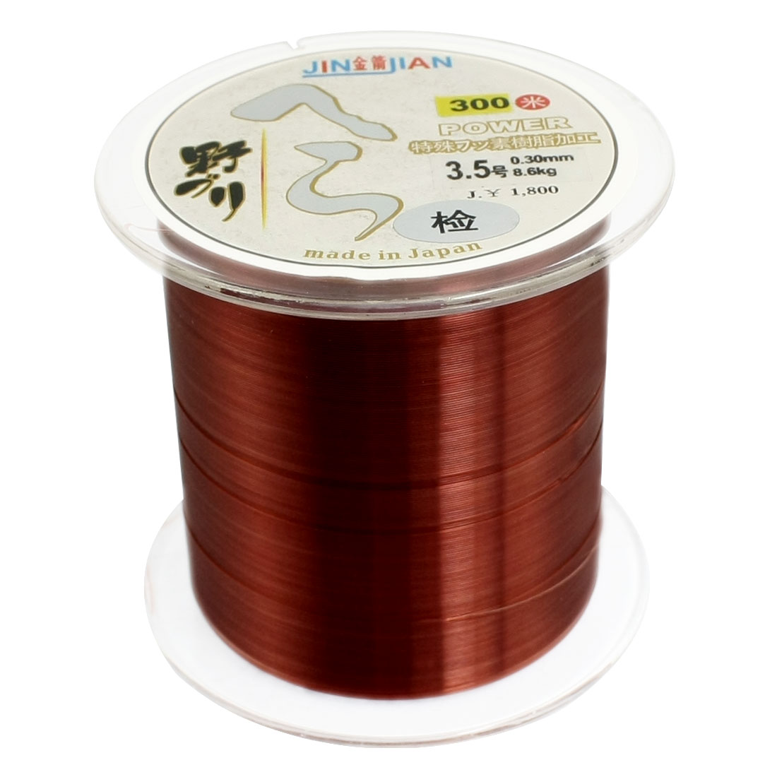 0.3mm Diameter 8.6Kg Brown Nylon Freshwater Fishing Spool Line 300m