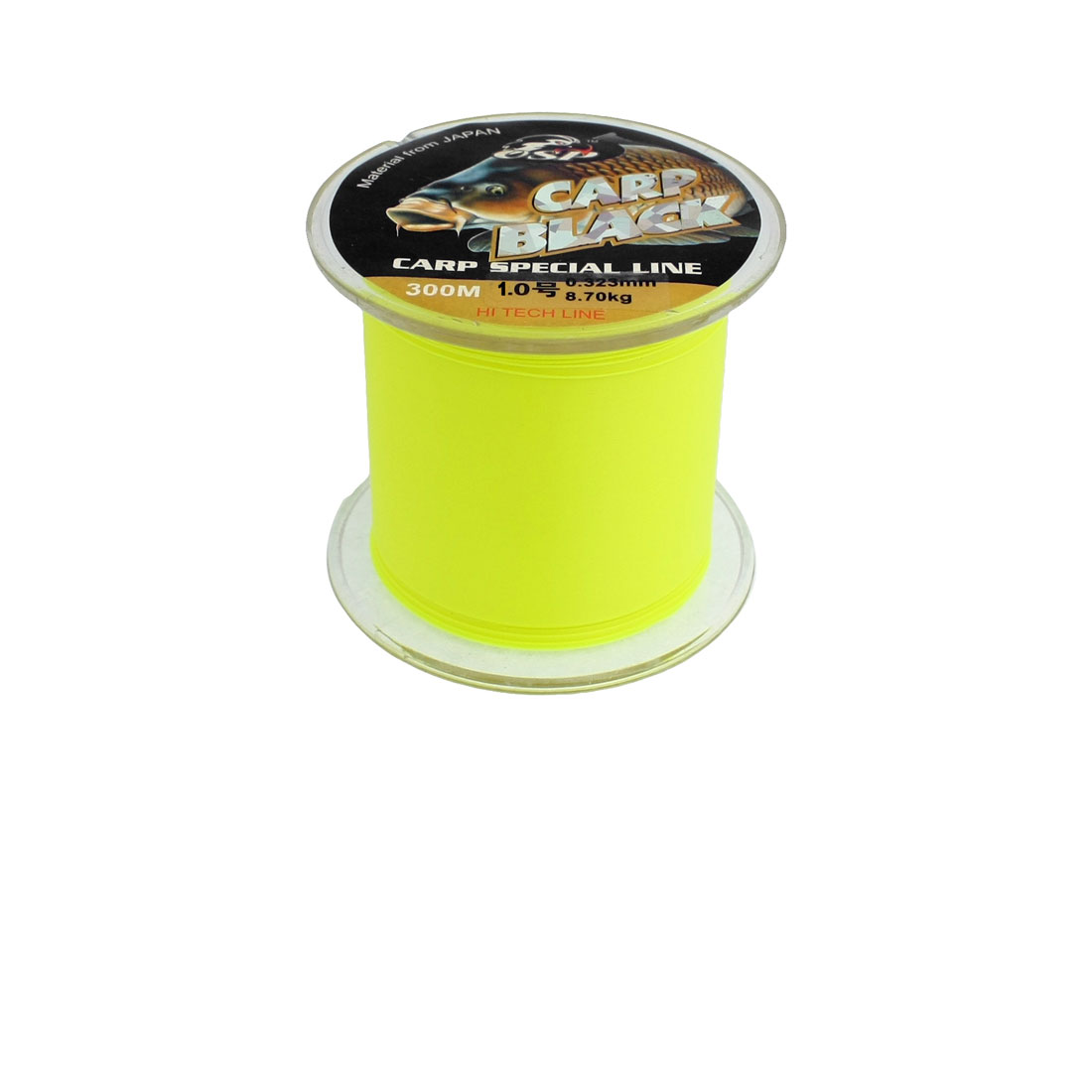 0.165mm Diameter 3.2Kg Yellow Green Nylon Freshwater Fishing Spool Line 300m