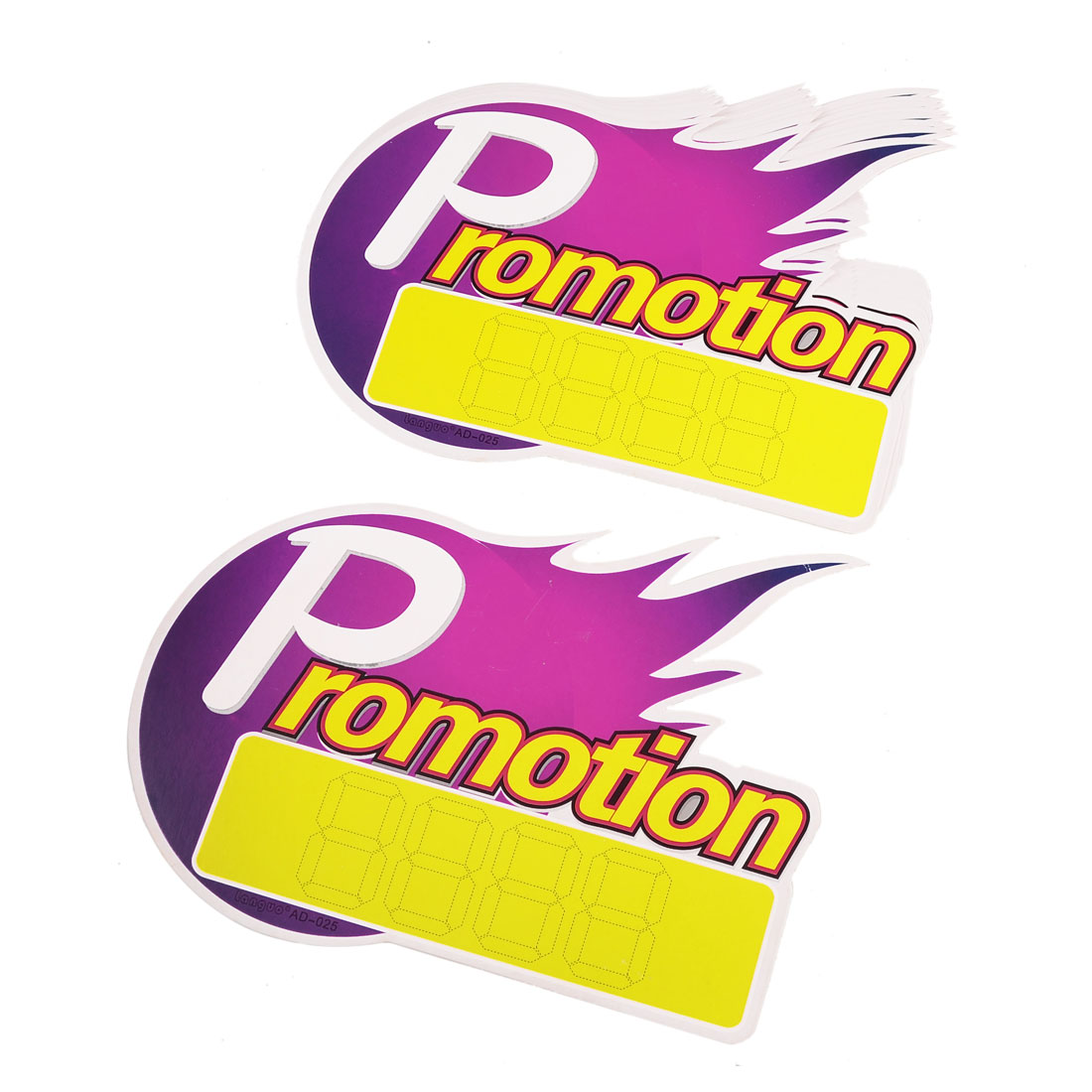 Purple Yellow Promotion Pattern Number Sign Advertisement POP Price Tags 10 Pcs