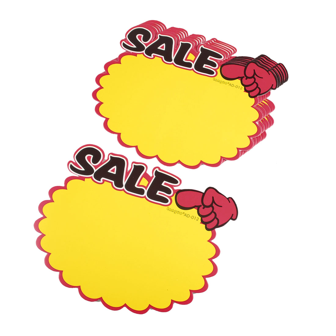 10 Pcs SALE Pattern Index Finger Point Promotion Sale Cards Advertising Pop Price Tags