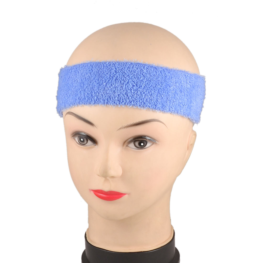 2 Pcs Spa Bathing Fringe Bang Holder Hair Band Stretchy Headband Light Blue for Women