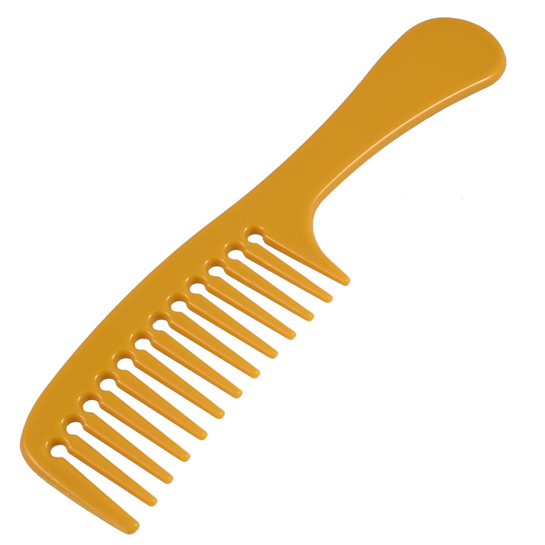 """DIY Hairstyle Light Brown Wide Tooth Plastic Handgrip Straight Hair Care Comb 8.4"""""""