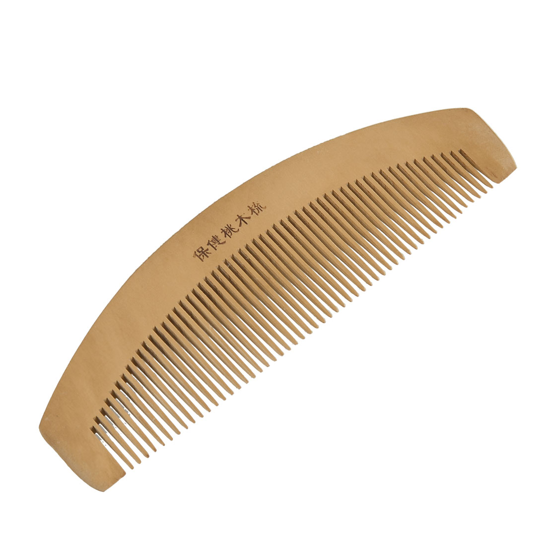 "Women 6.5"" Length Dual Head Wooden Toothed Anti-static Hair Comb"