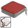 Red Square Shaped 40Pcs Capacity CD DVD Organizer Case Holder