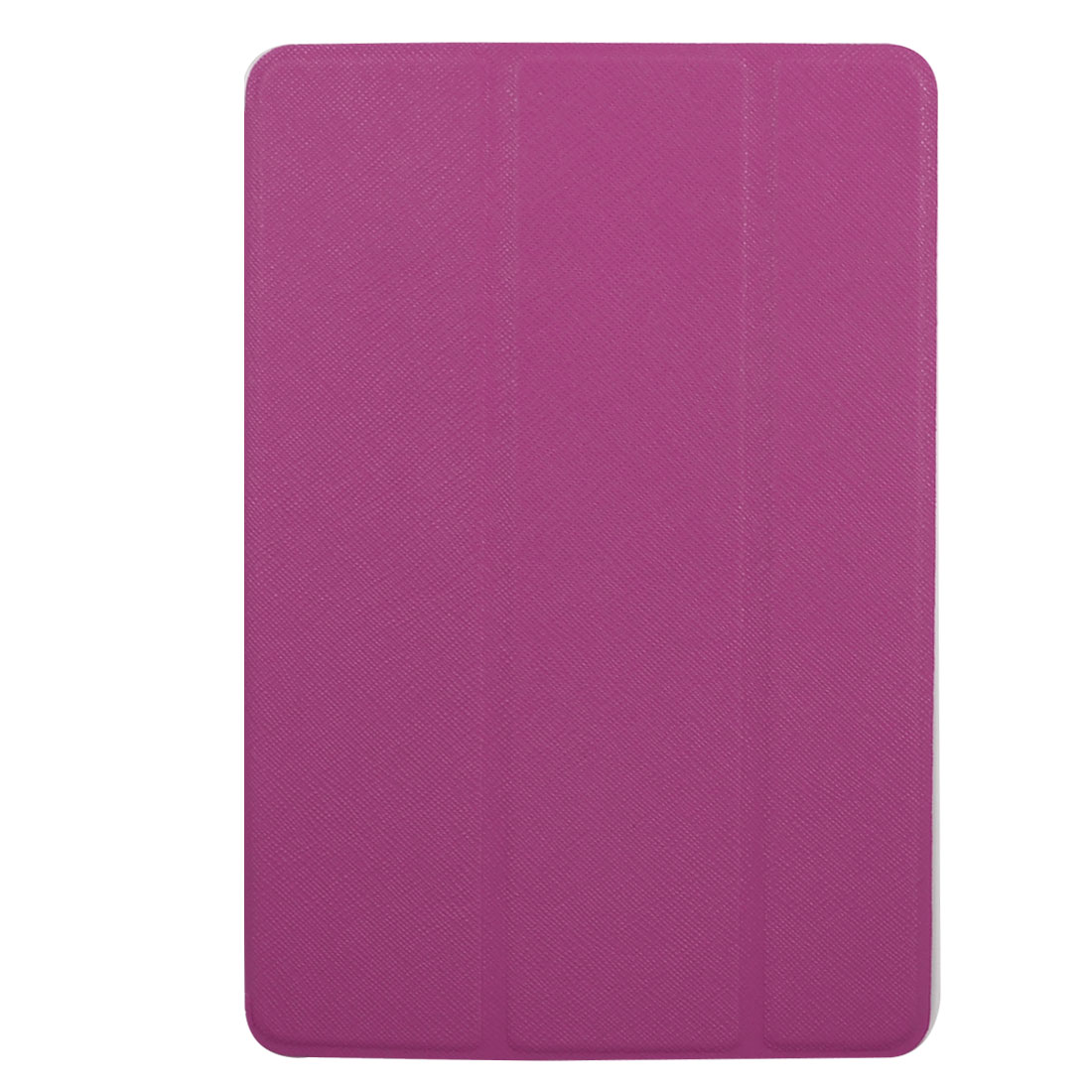 Fuchsia Faux Leather Stand Case Cover Pouch Protector for Apple iPad Mini