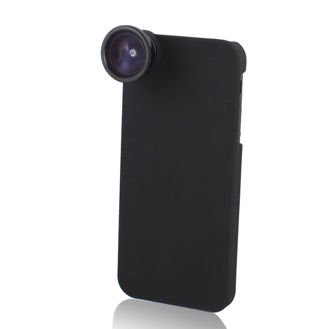 Black 5X Optical Telephone Camera Fisheye Lens w Back Case for iPhone 5G