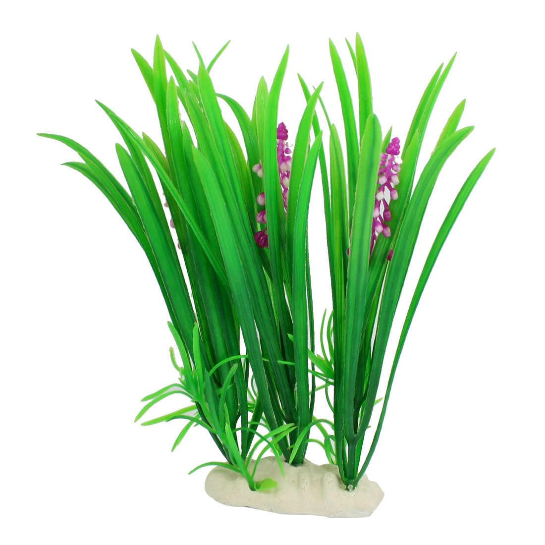 Fish Tank Fishbowl Decoration Fuchsia Flower Green Leaf Plastic Aquatic Plant