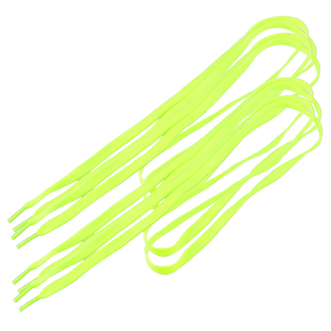 "Ladies Plastic Tips 43.2"" Length Cord String Yellow Shoelaces Shoe Laces 2 Pairs"