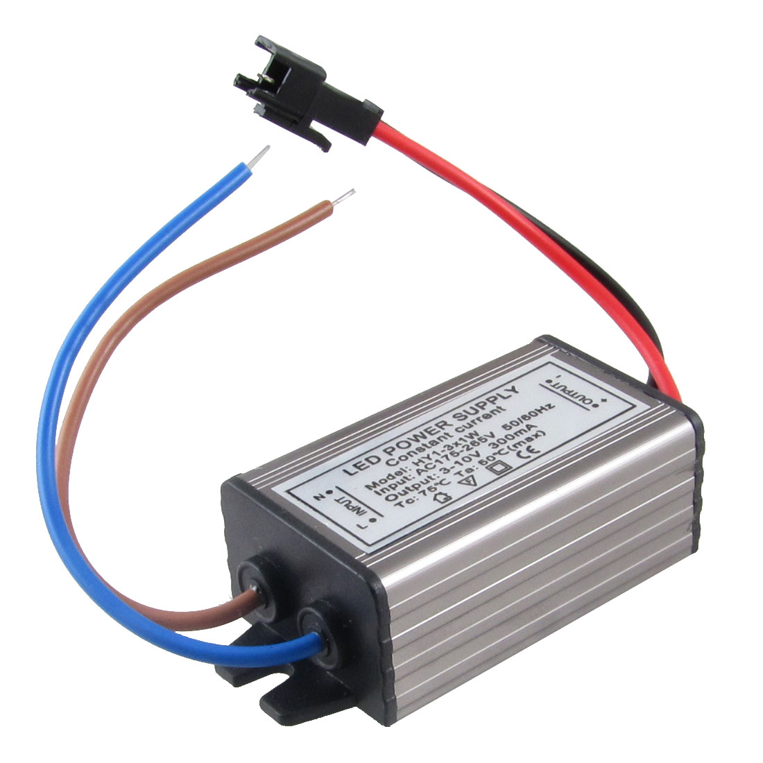 AC 175-265V DC 3-10V 300mA Water Resistant Power Supply for 1W-3W LED Lamp