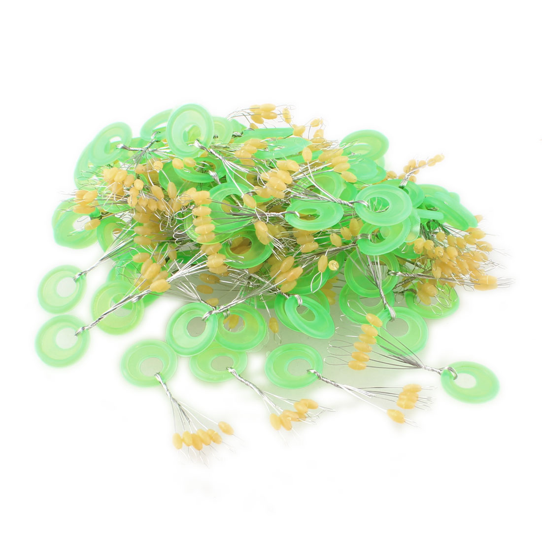 98 Pcs 6 in 1 Oval Shaped Green Plastic Fishing Floating Bobbers