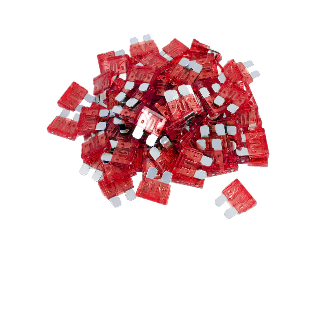 Car Truck Motorcycle Van 10A Flat Blade Fuse Red 100 Pcs