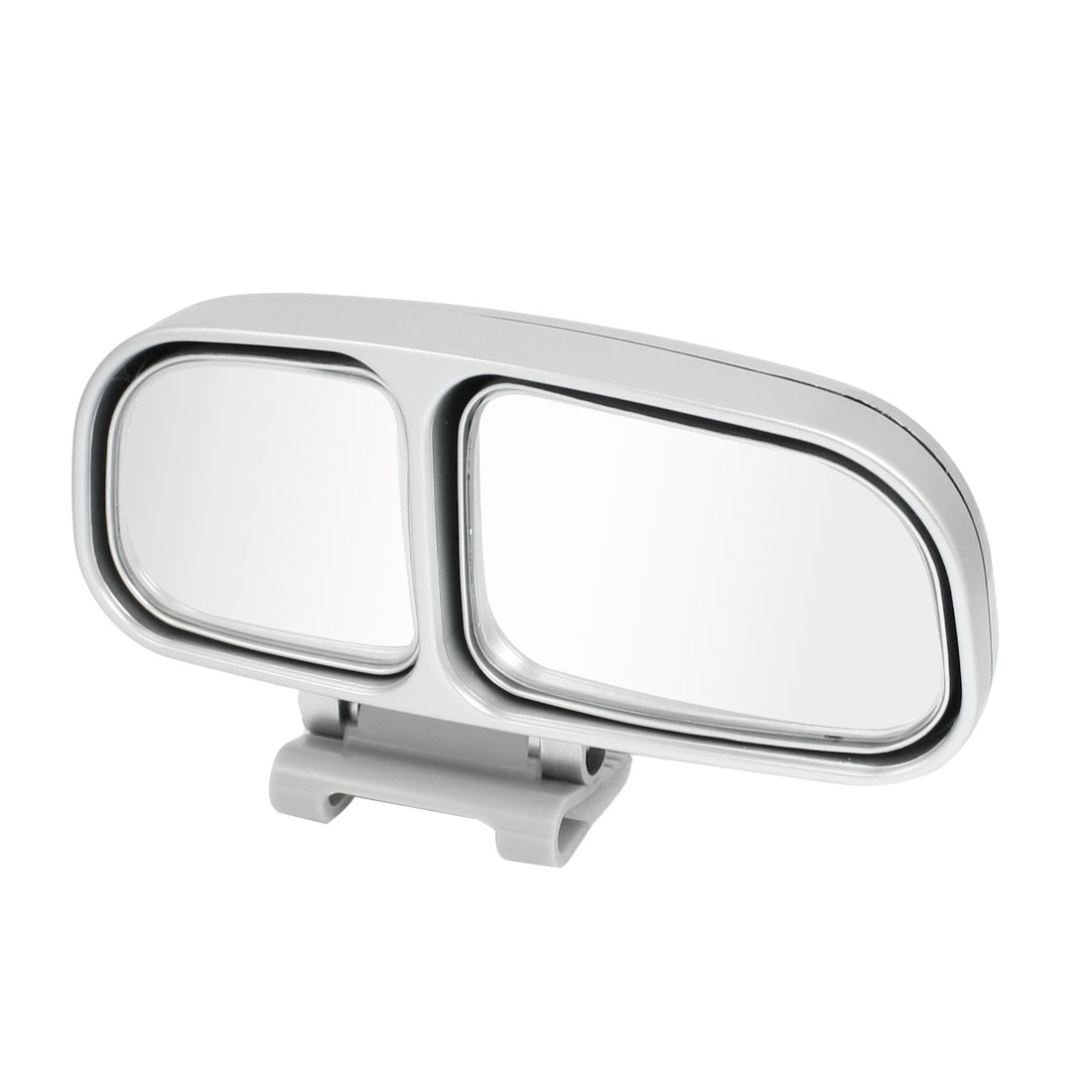 Car Van Truck Right Rearview Dual Adjustable Blind Spot Mirror Silver Tone