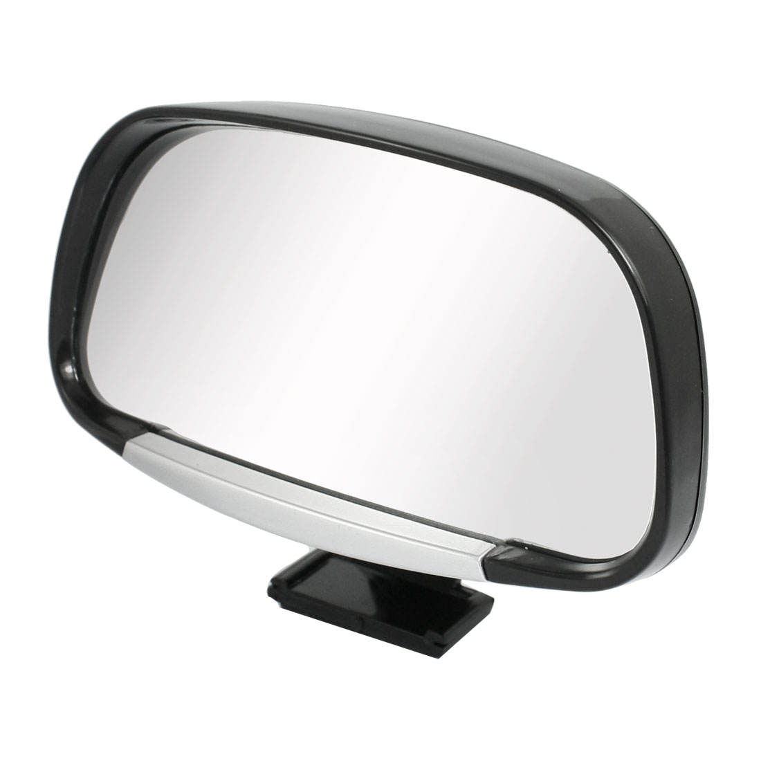 Vehicle Car Wide Rear Side Angle View Blind Spot Mirror Black