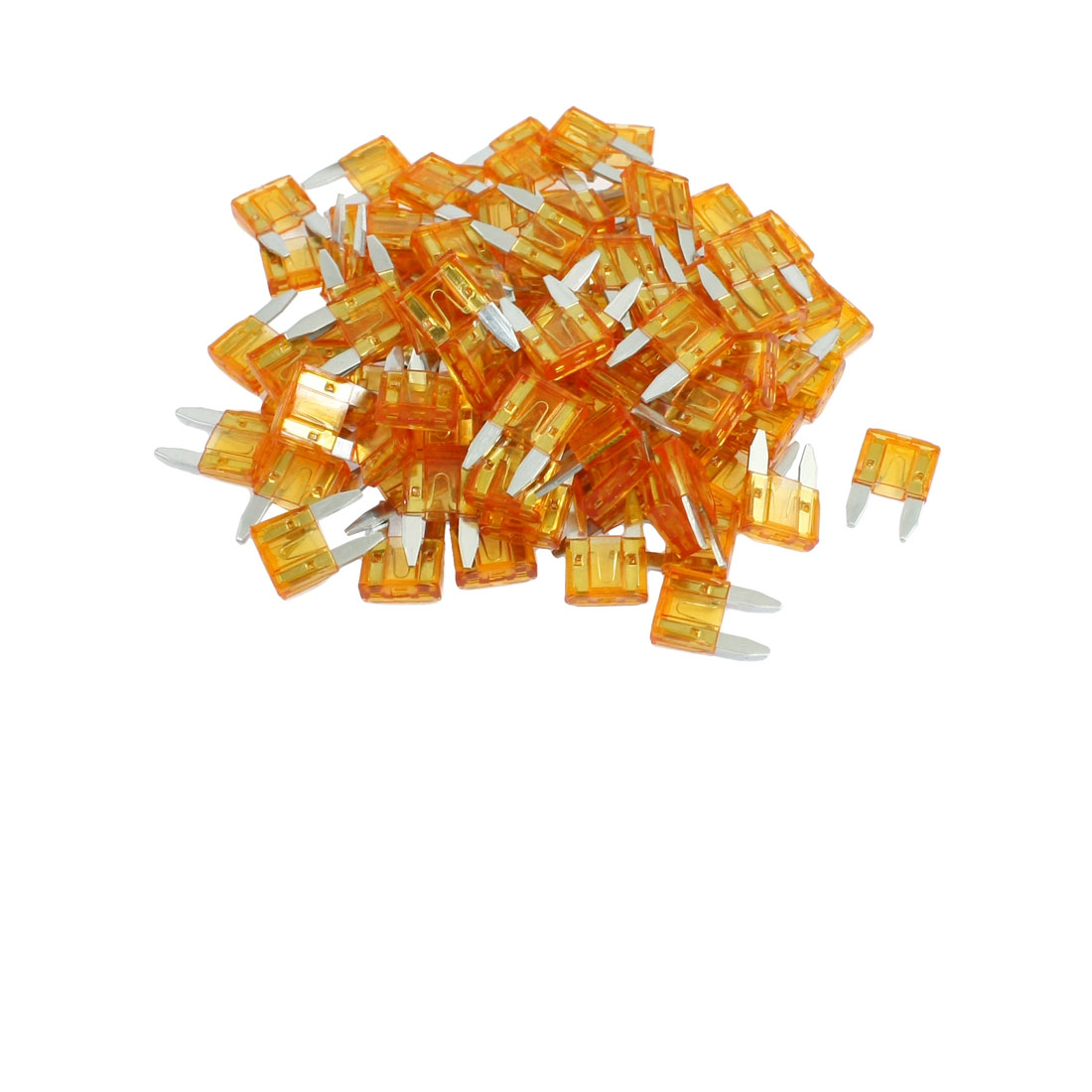 100 Pcs Mini Wedge Auto Car Boat Taxi Truck Blade Fuse Orange 5A