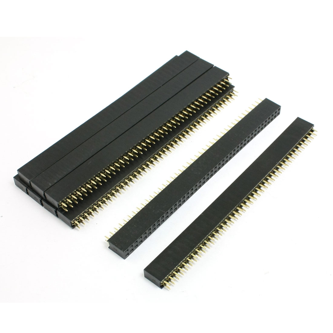 9 Pcs 2.21mm Pitch 2x40 Pin Straight Dual Rows Pin Headers for LCD TV