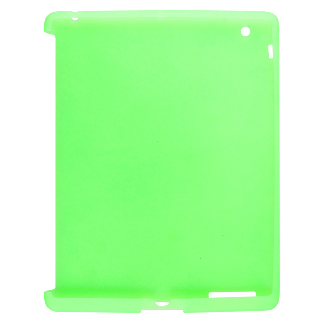 Green Soft Silicone Case Skin Cover for Apple iPad 3