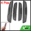 Auto Car Vehicles Black Self-adhesive Base Door Guard Stickers 4 Pcs