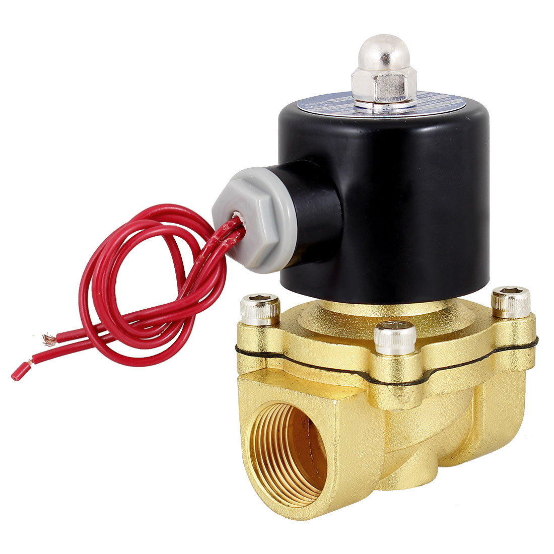 "NC PT 3/4"" Port 2 Way 2 Positions Water Air Oil Electric Solenoid Valve"