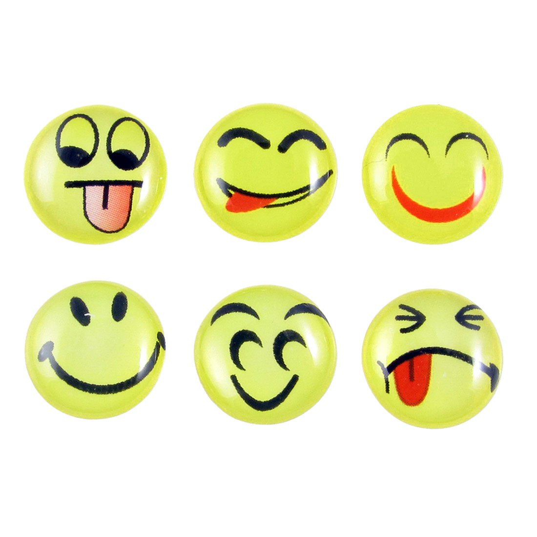 Smiling Face Home Button Stickers 6 in 1 for Cell Phone