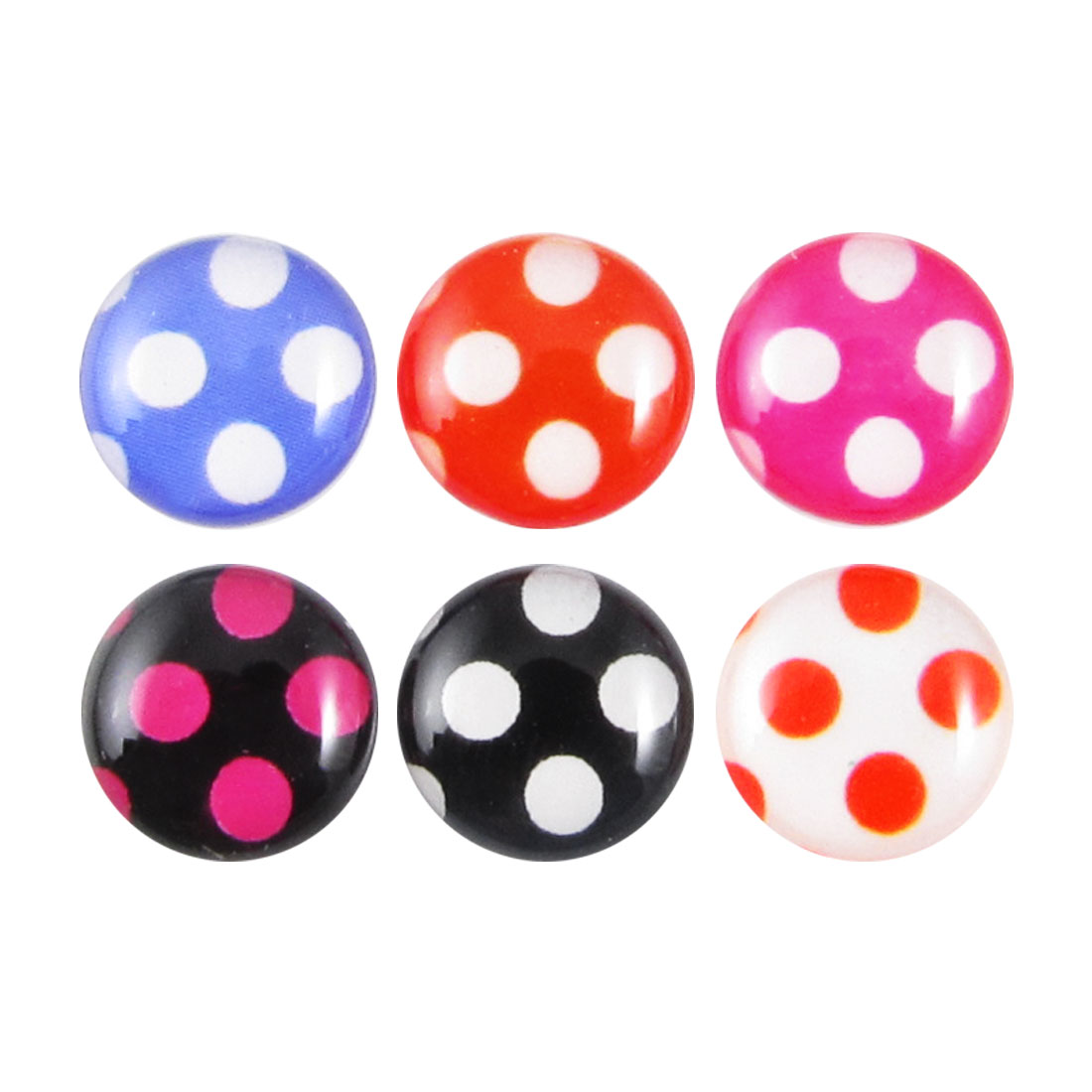 Polka Dots Home Button Stickers 6 in 1 for Cell Phone