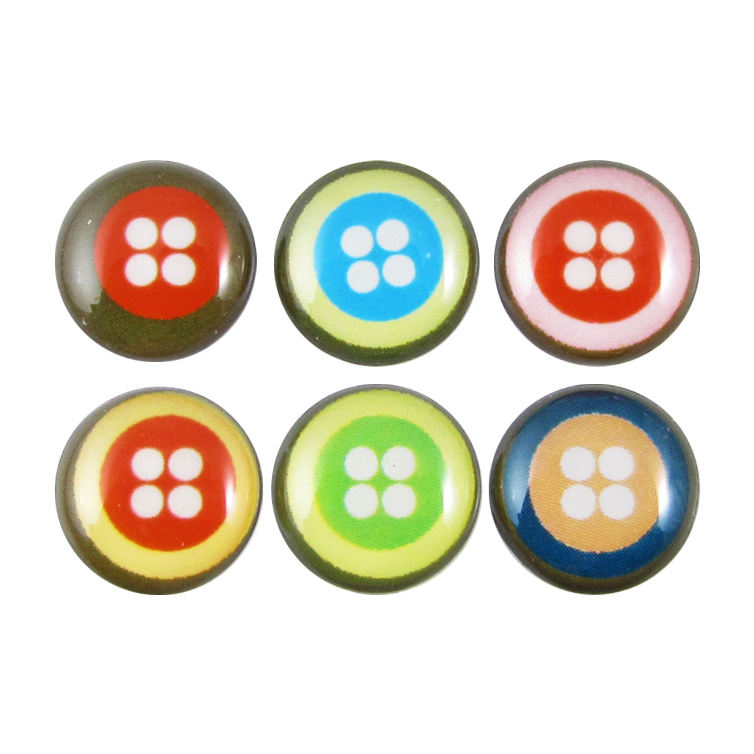 Colorful Dots Home Button Stickers 6 in 1 for Cell Phone