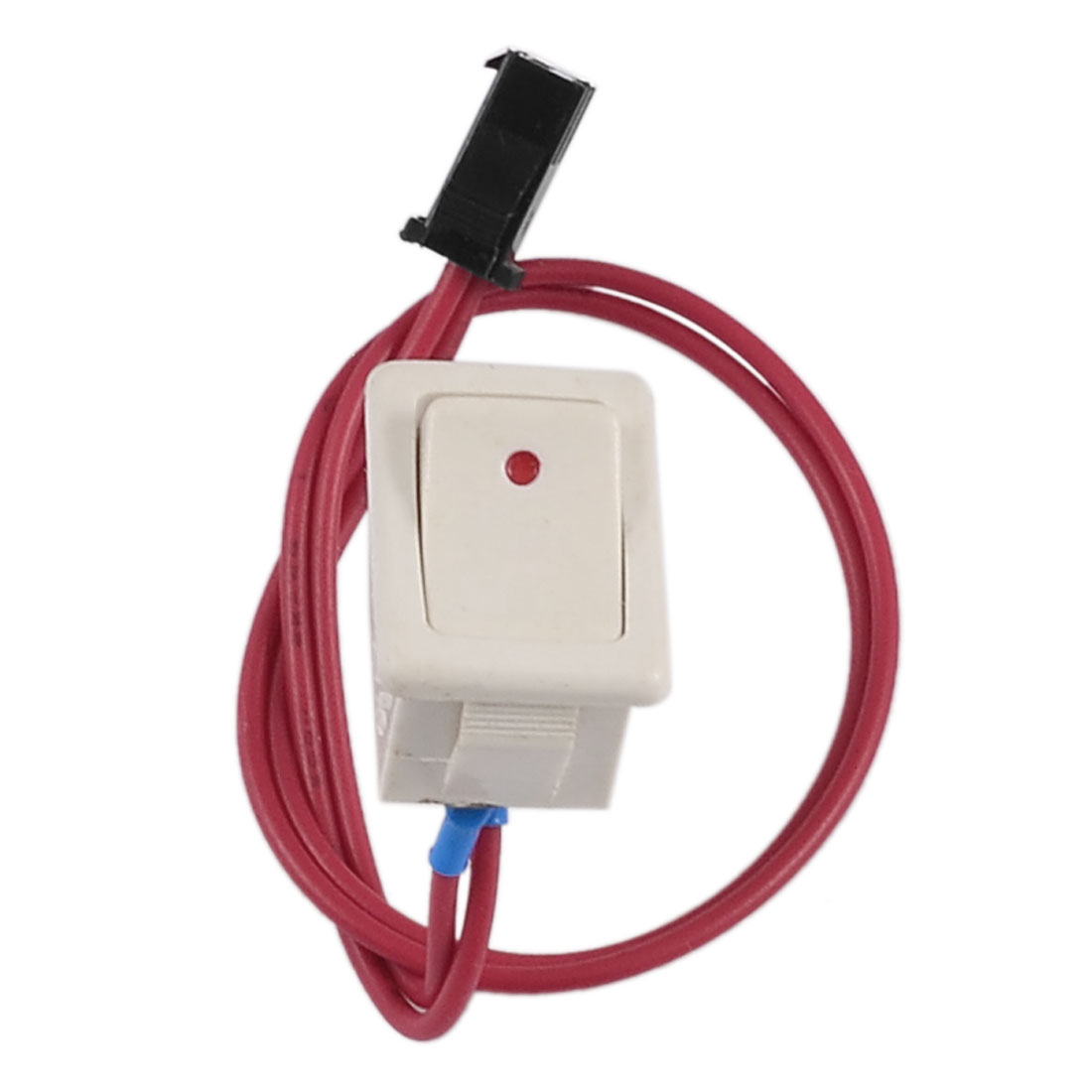 ON/OFF 2 Position SPST 2 Pole Snap-in Boat Rocker Switch w Red Cable