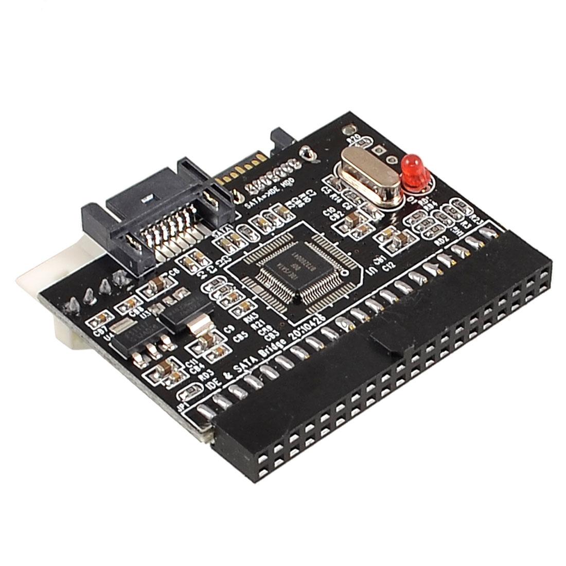 Bidirectional SATA Serial ATA to IDE Converter Adaptor Red Black