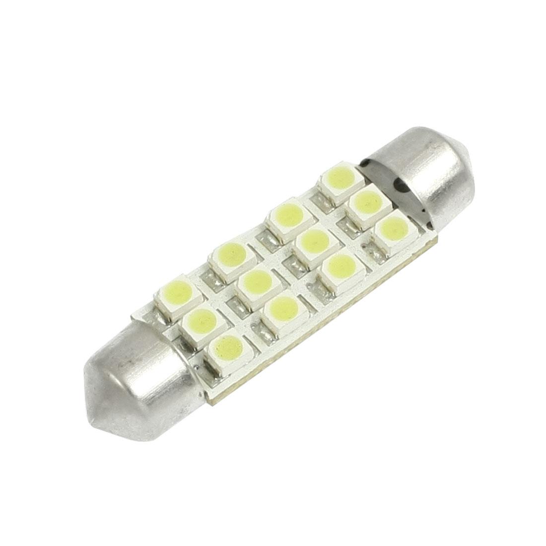 Car 41mm 1210 3528 SMD 12 LED Leds Festoon Dome Light Bulb White