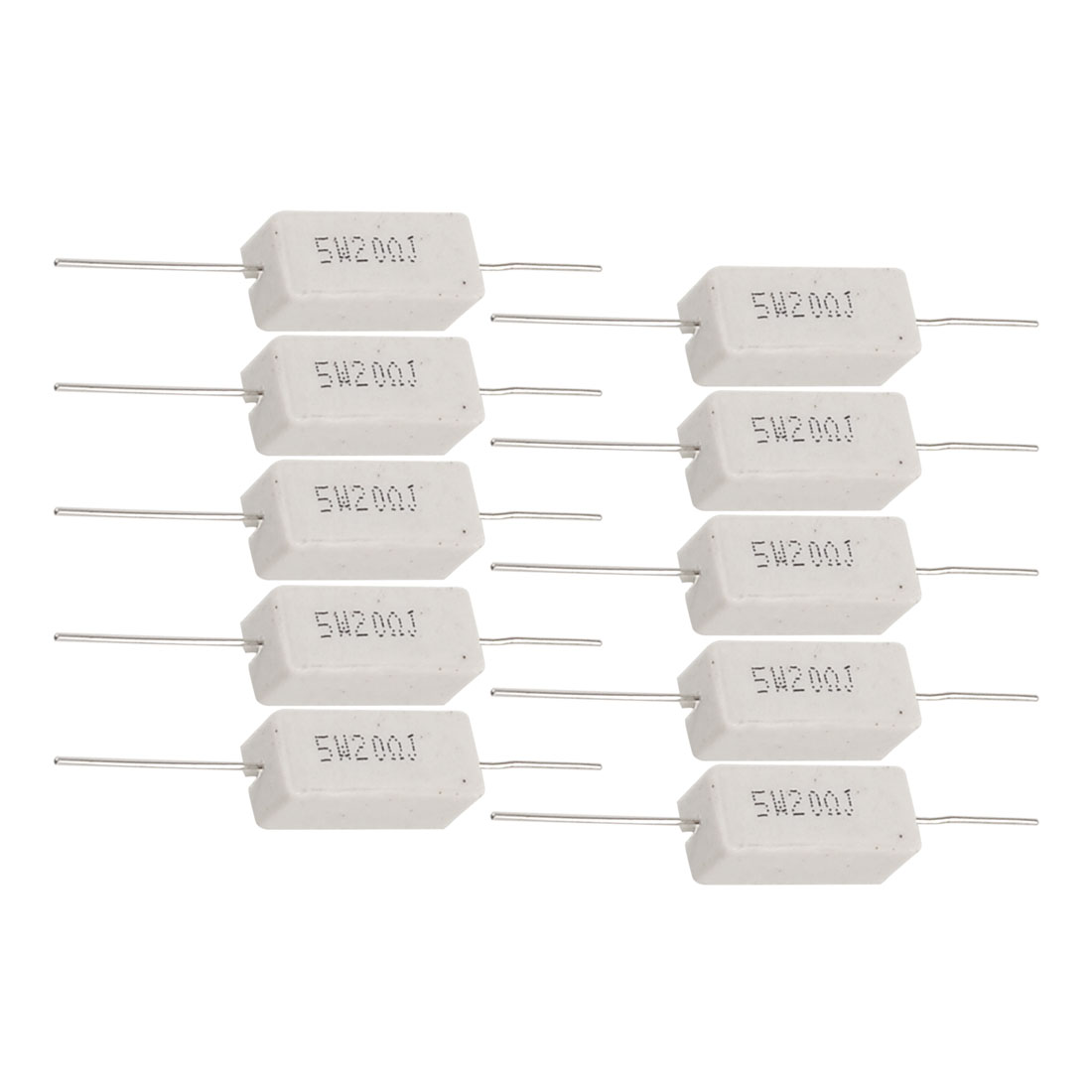 5W 20 Ohm Ceramic Cement Power Resistor Axial Lead 10 Pcs