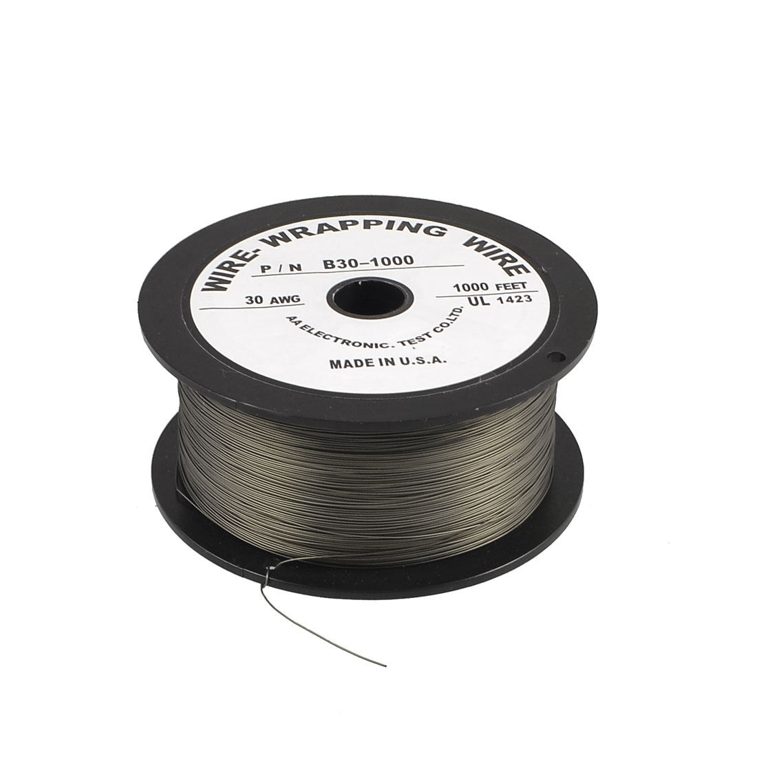 1000 Ft Gray PVC Coated Tin Plated Copper Wire Wire-Wrapping 30AWG Cable Roll