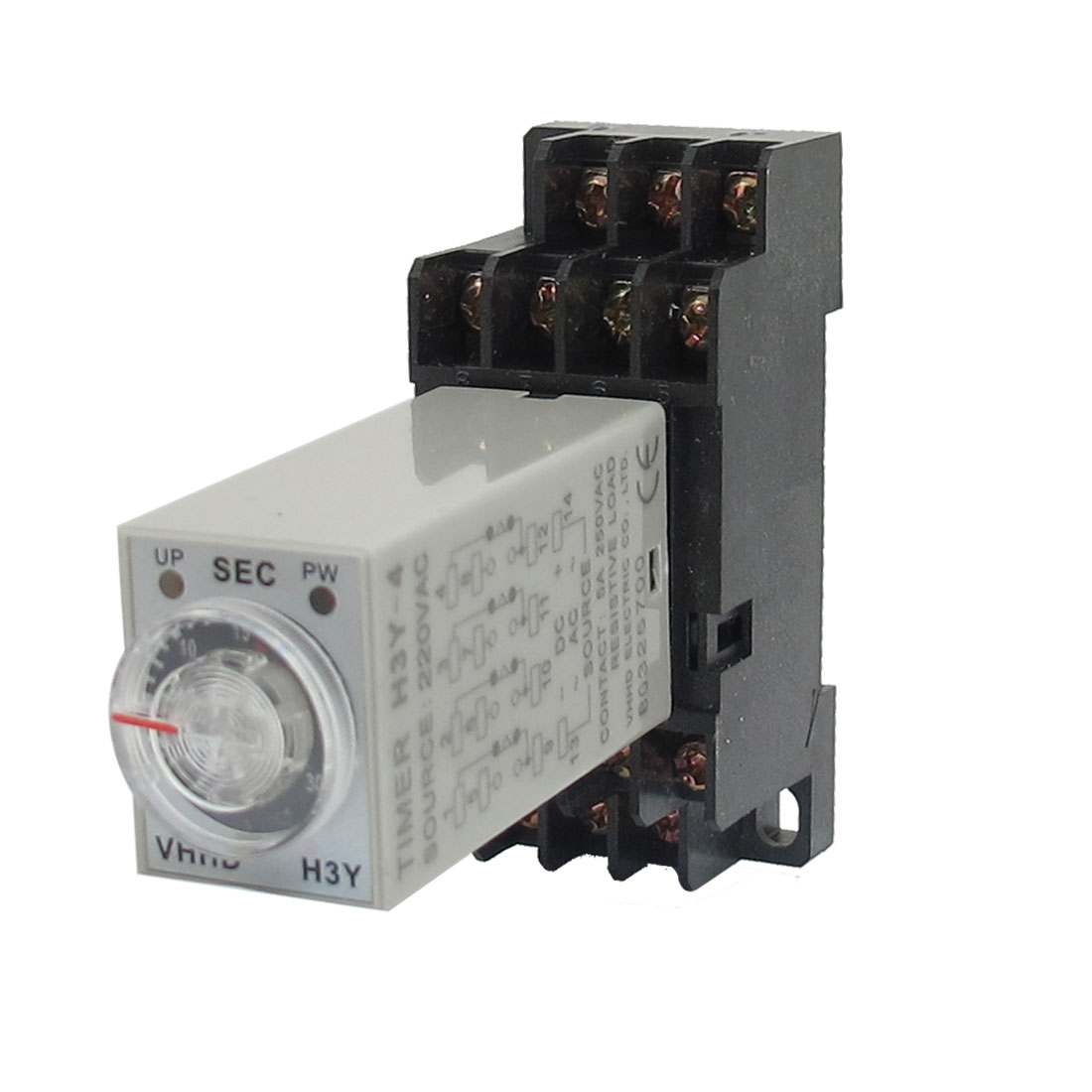 AC 220V H3Y-4 0-30S 4PDT 14 Pins Power on Time Delay Relay w Socket