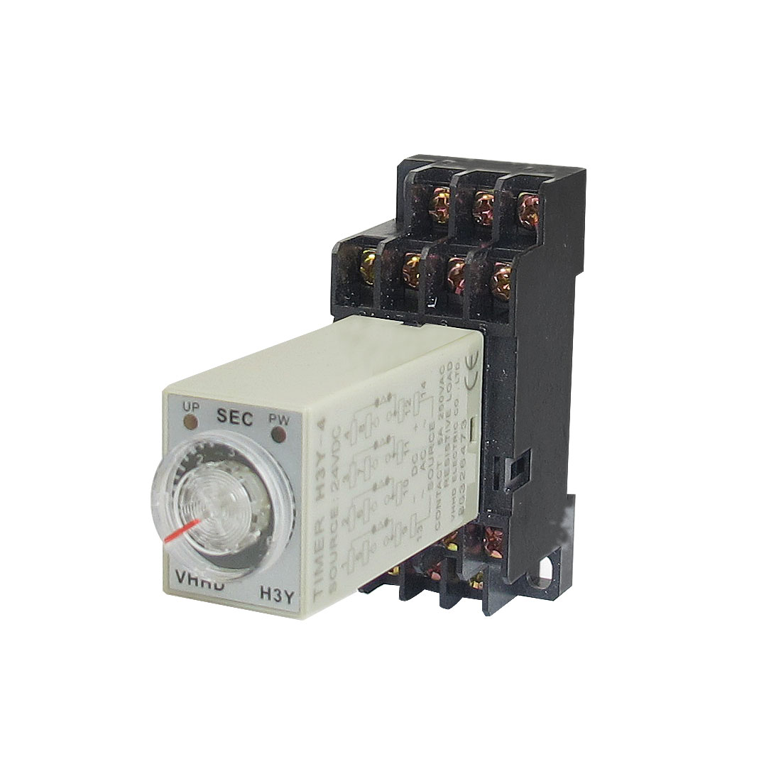 H3Y-4 24VDC 4PDT 6 Seconds 14P Terminals Delay Timer Time Relay w Base