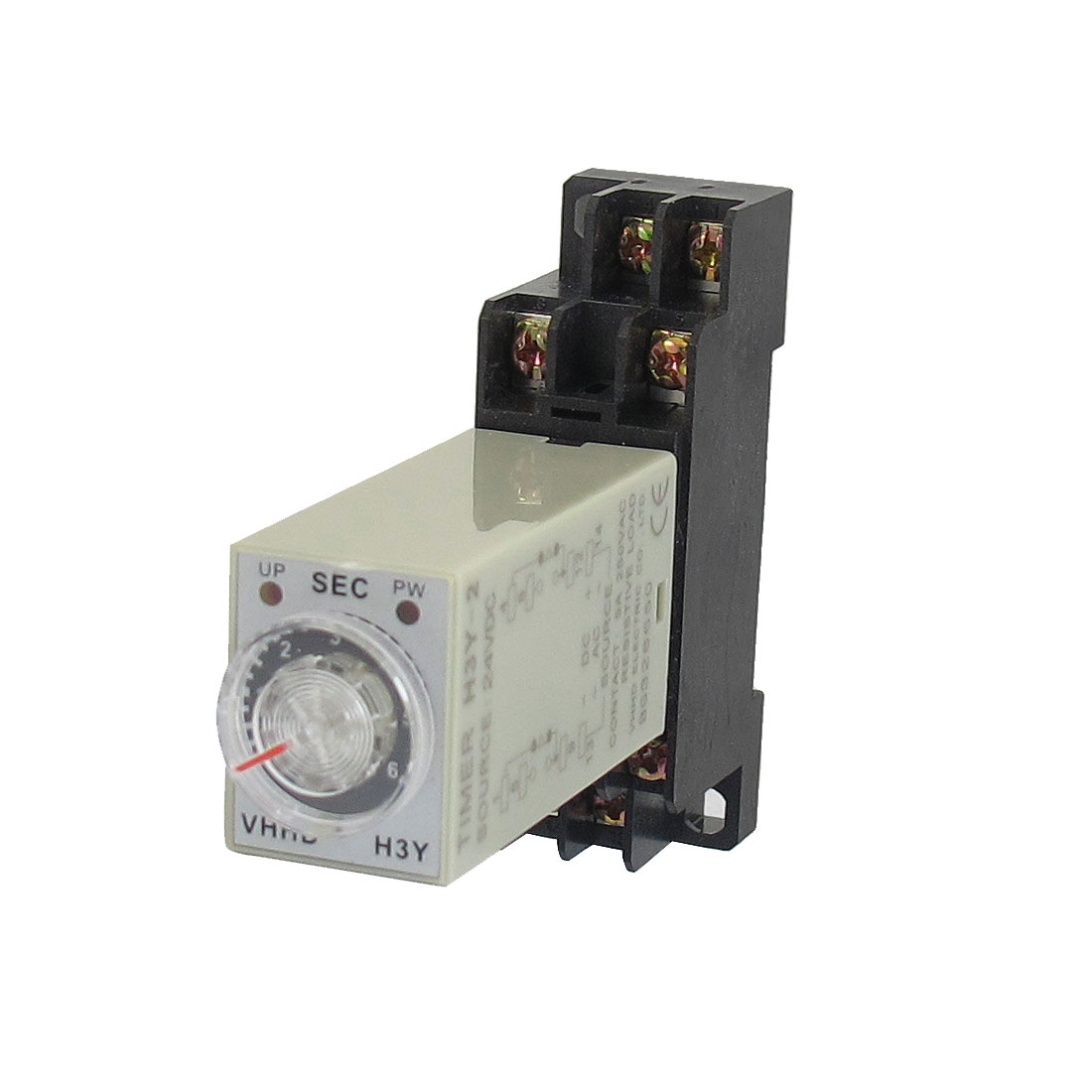 H3Y-2 24VDC DPDT 6 Seconds 8P Terminals Delay Timer Time Relay w Base