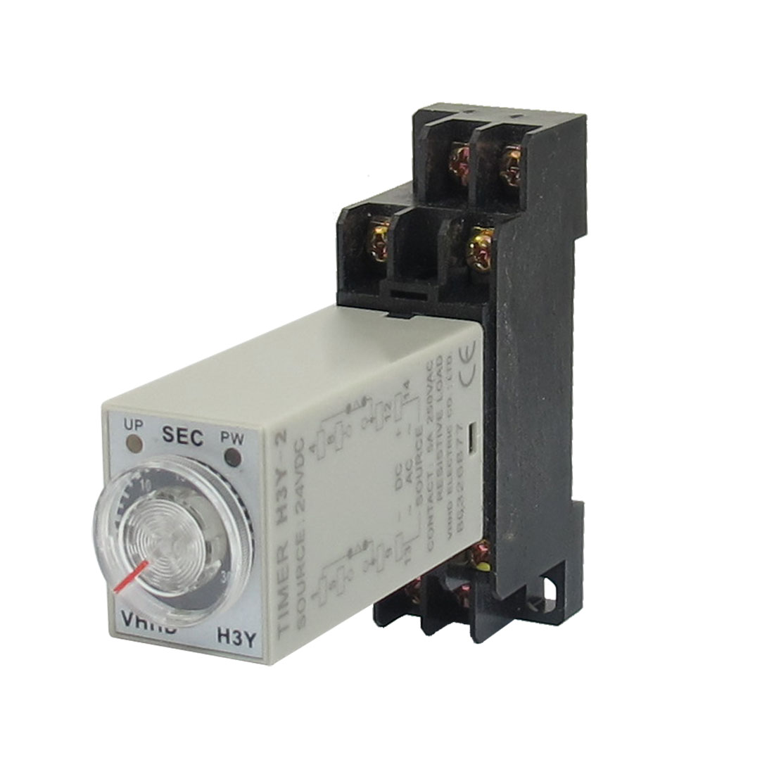DC 24V H3Y-2 0-30S DPDT 8 Pins Power on Time Delay Relay w Socket