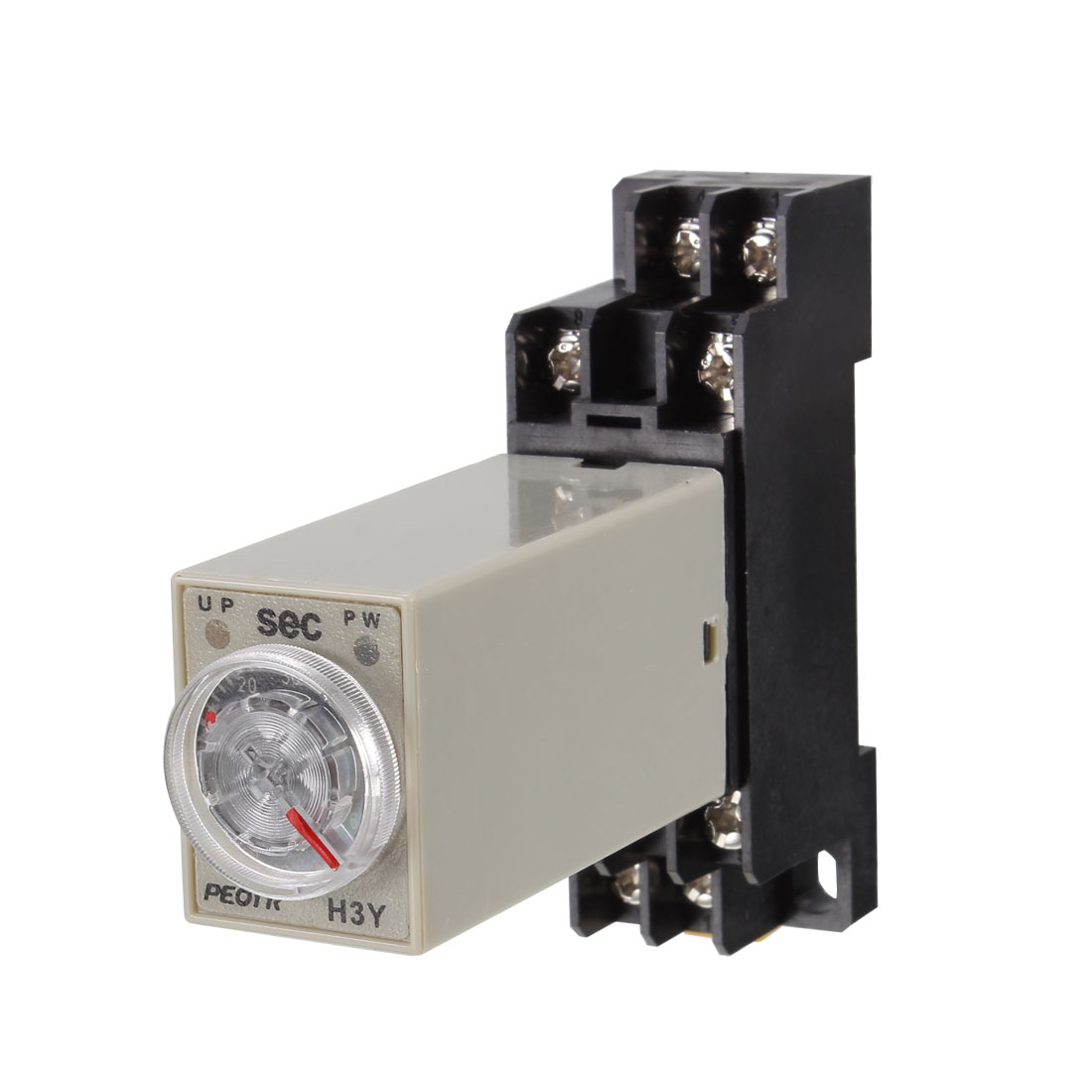 H3Y-2 24VDC DPDT 60 Seconds 8P Terminals Delay Timer Time Relay w Base