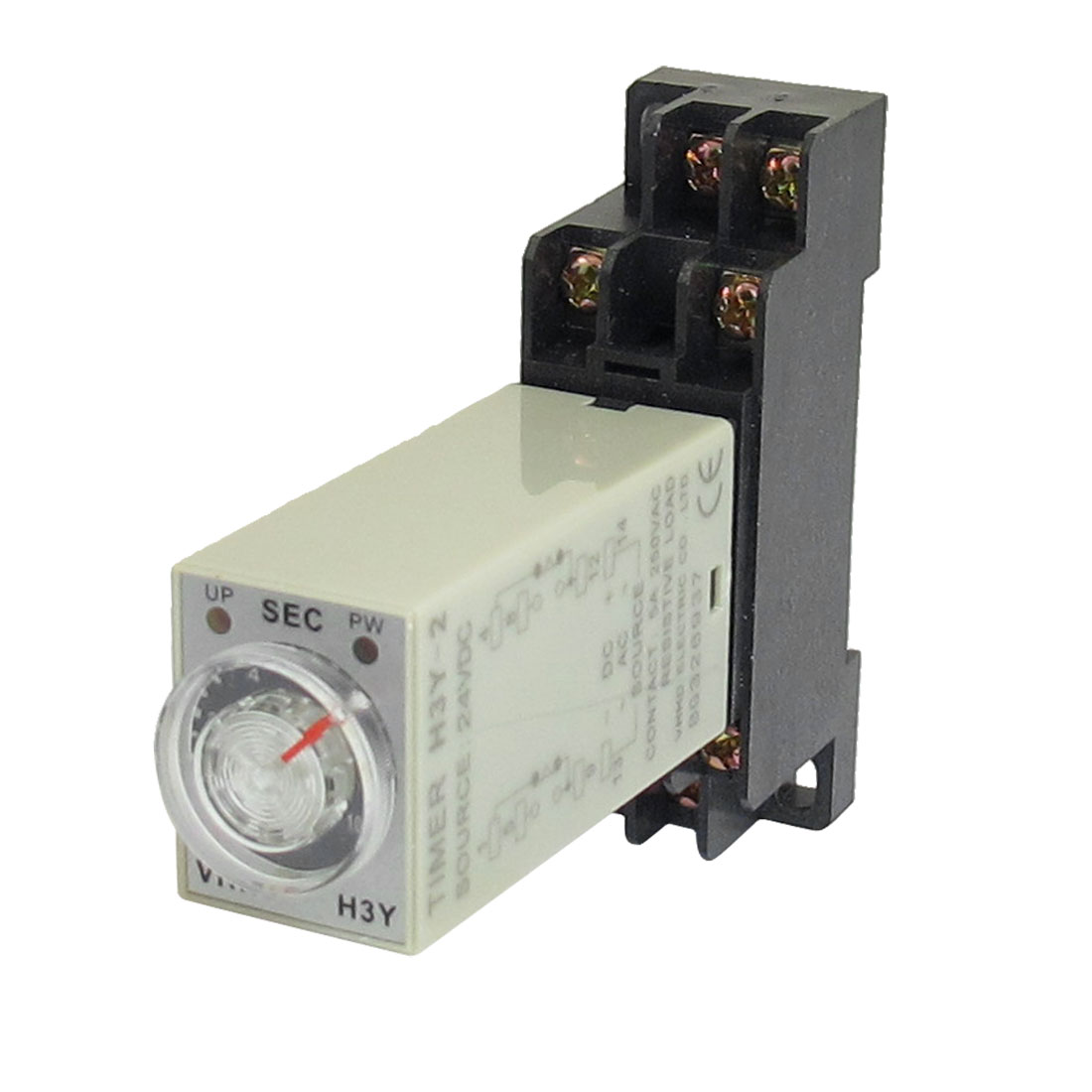 H3Y-2 24VDC DPDT 10 Seconds 8P Terminals Delay Timer Time Relay w Base
