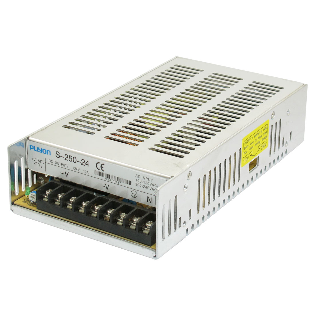 Three Output Switching Power Supply Transformer DC 24V 10A 250W for LED Light