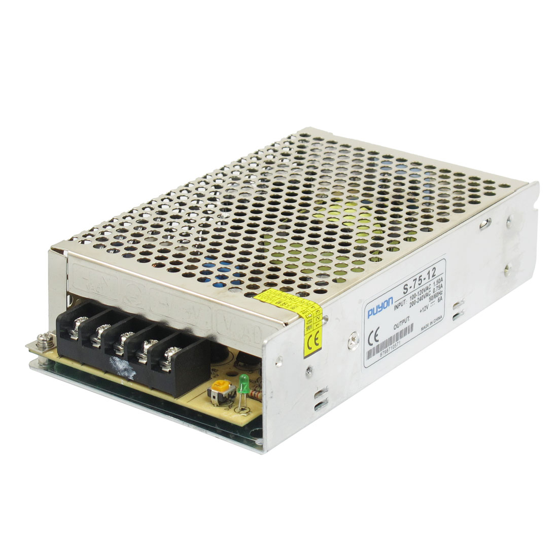 AC 110V/220V DC 12V 6A 75W Switching Power Supply Driver for LED Strip Light