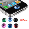 Bling Crystal Home Button Stickers 6 Pcs