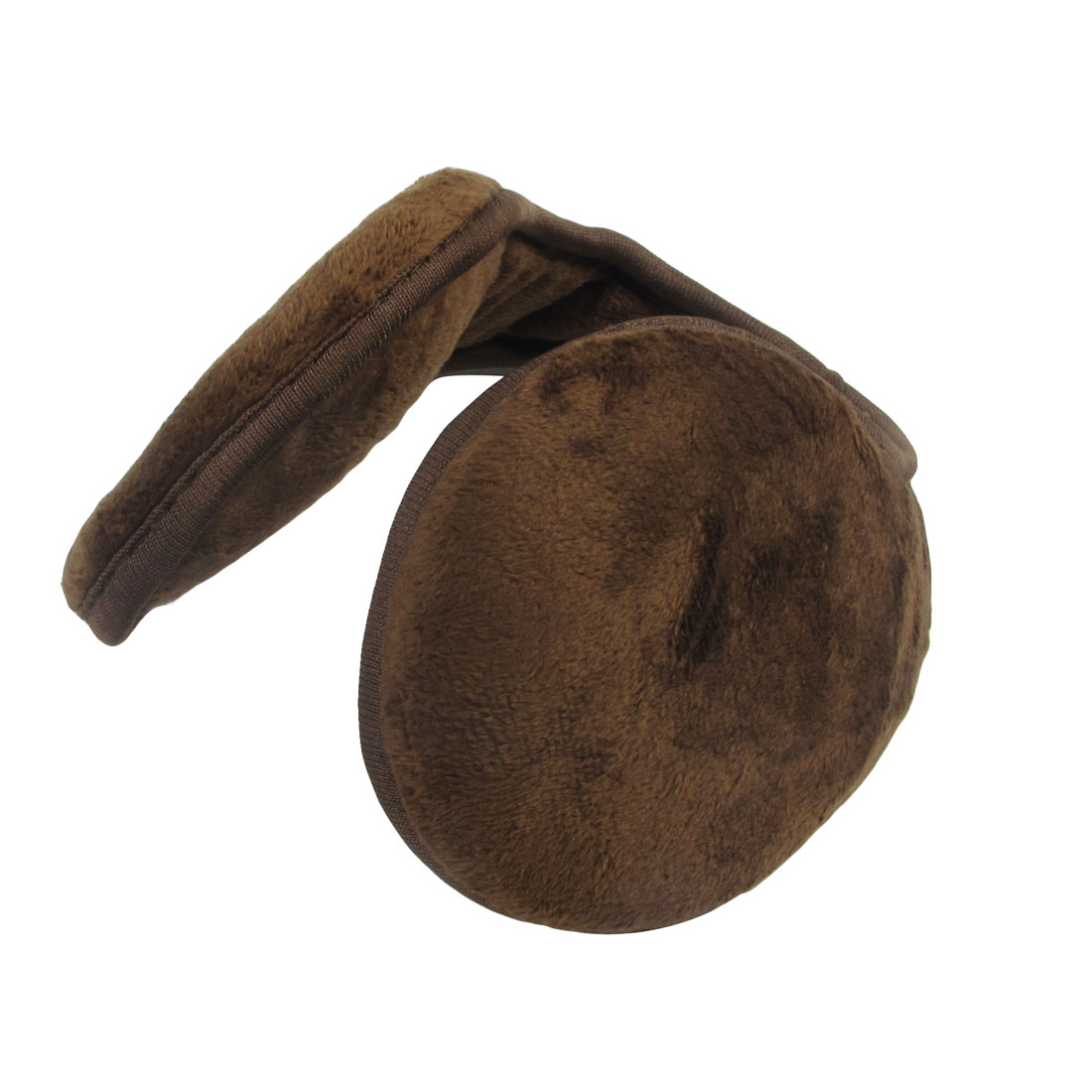 Men Women Brown Fleece Pad Winter Warming Ear Warmer Back Earmuffs