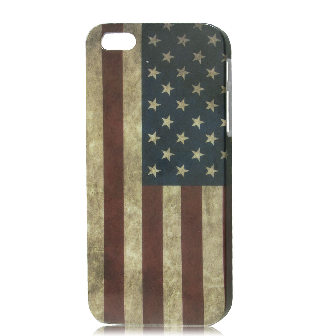 Retro Style US American National Flag IMD Hard Case Back Cover for iPhone 5 5G