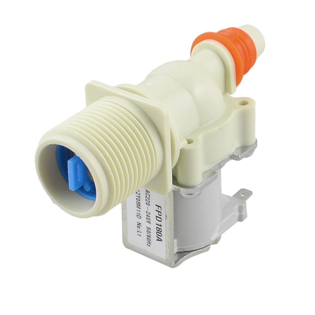 "0.43"" Hose Outlet AC 220-240V 50/60Hz Water Inlet Solenoid Valve for Washing Machine"