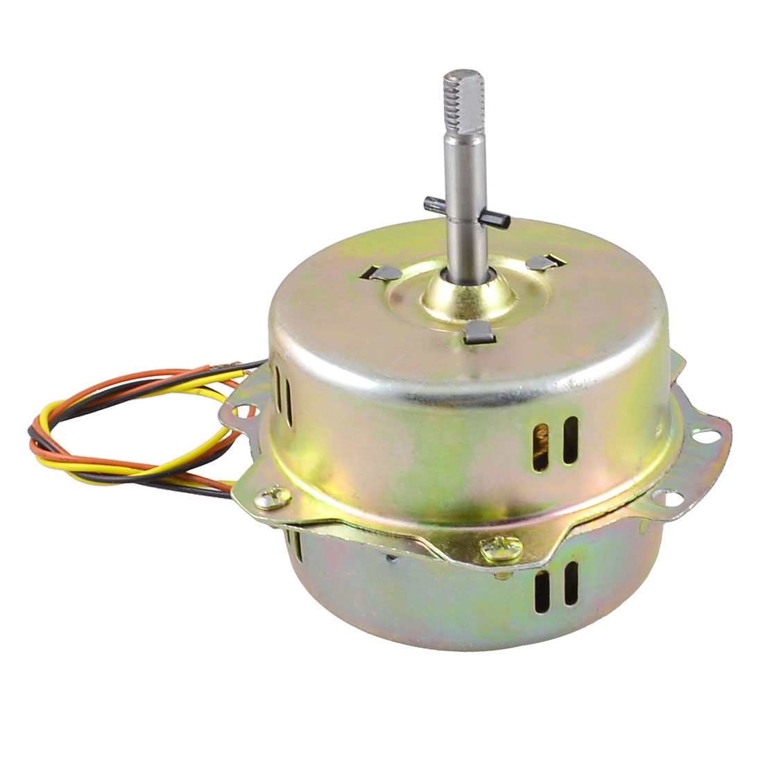 AC 220V 50Hz 45W Exhaust Fan Ventilator Mini Micro Motor Brass Tone w Cable