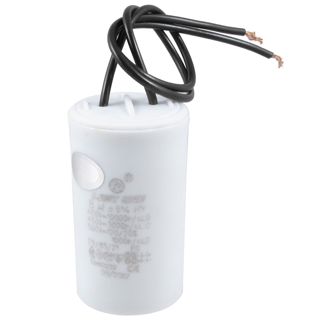 AC 400V/450V/500V 8uF 2-wire Motor Running Capacitor for Washing Machine Washer