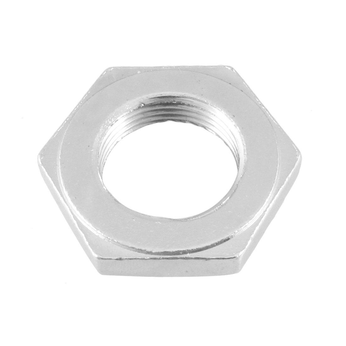 Hexagon Head 22mm Female F Thread Pipe Hose Connector Screw Nut